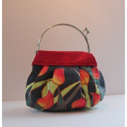 Tulip silk evening bag