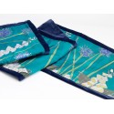 White foxgloves silk table runner/ bed shawl