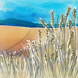 Sand dunes greetings card