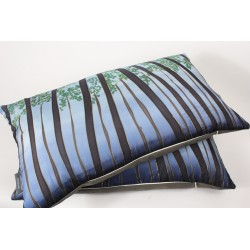 Trees silk cushion