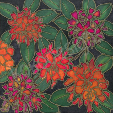 Rhododendron bamboo print