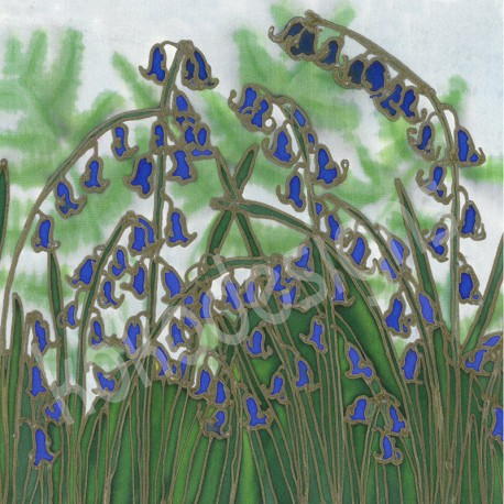 Ferns and bluebells bamboo print