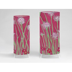 Pink agapanthus print tablelight