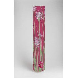 Pink agapanthus print floorlight