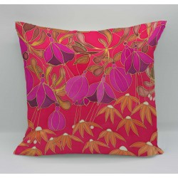Dusky Hedgerow cotton print cushion