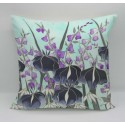 Dawn Hedgerow cotton print cushion