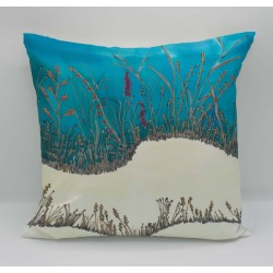 Seagrass cotton print cushion