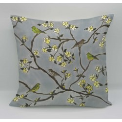 Around the garden cotton print cushion