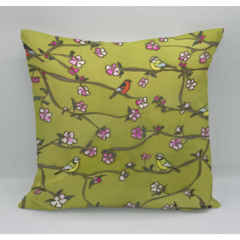 Into the garden cotton print cushion