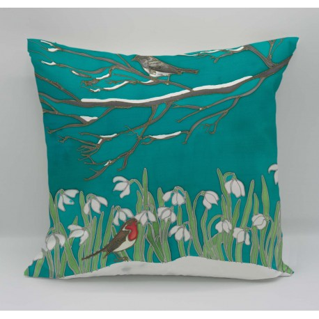 Birds cotton print cushion