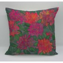 Rhododendron cotton print cushion