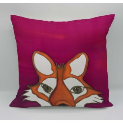 Fox cotton print cushion