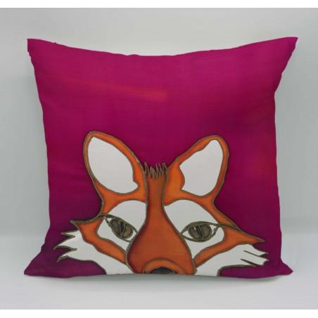 Fox cotton print cushion