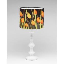 Tulips silk lampshade