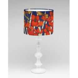 Night poppy silk lampshade
