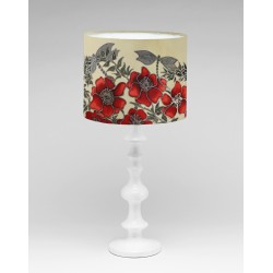 Red Dragon silk lampshade