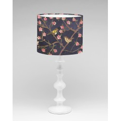 Out of the garden silk lampshade