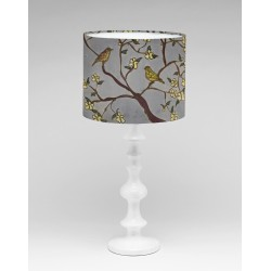 Around the garden silk lampshade
