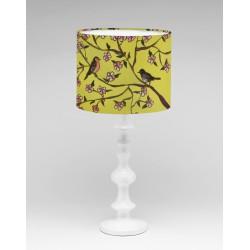 Through the garden silk lampshade