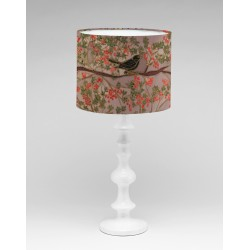 Autumn garden silk lampshade