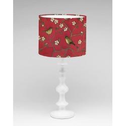 Listen in the garden silk lampshade