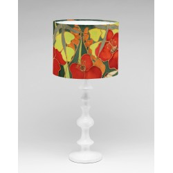 Hedgerow silk lampshade