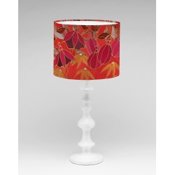 Dusky Hedgerow silk lampshade