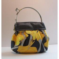 Iris silk evening bag