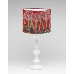 Pink agapanthus silk lampshade