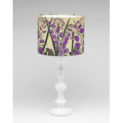 Cream garden silk lampshade