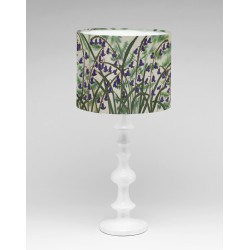 Ferns and bluebells silk lampshade