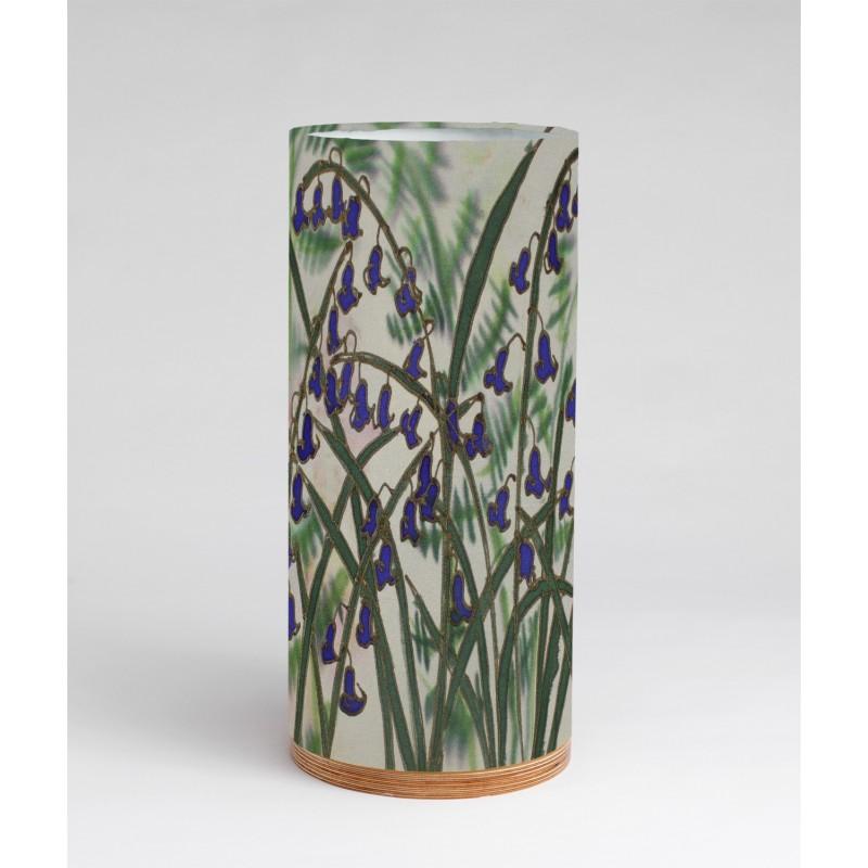 Ferns and bluebells silk tablelight