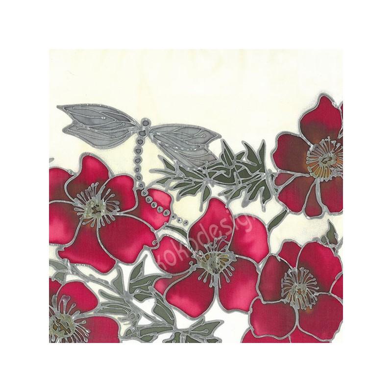 Red dragon bamboo print