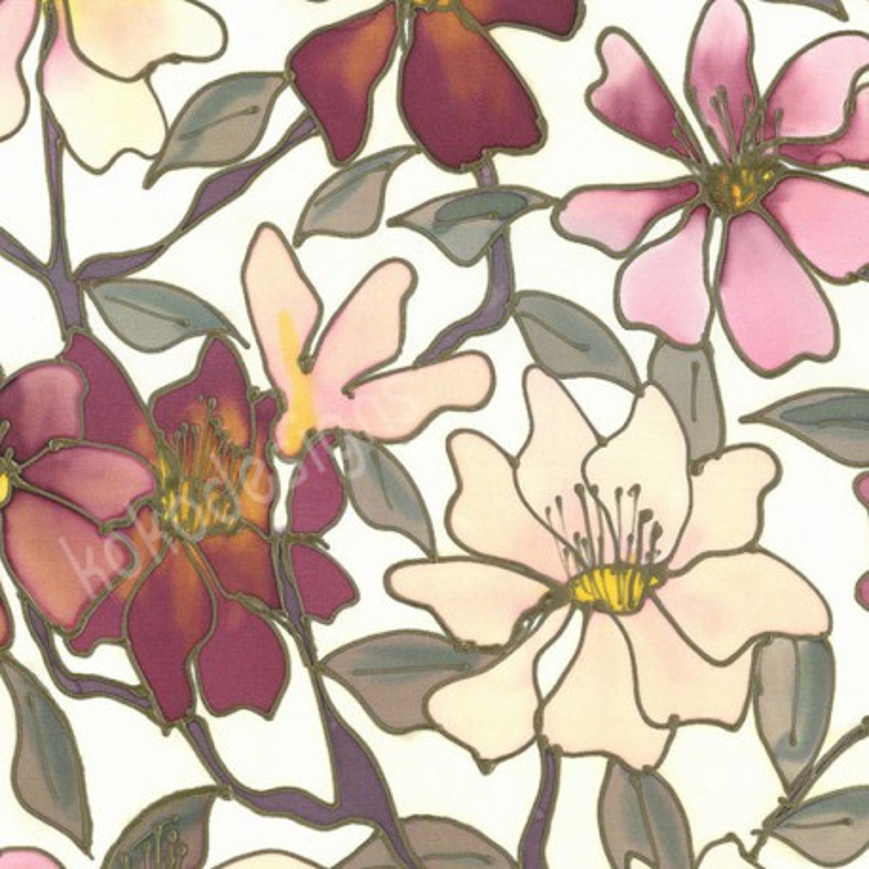 Peony rose bamboo print