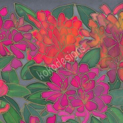 Rhododendron greetings card