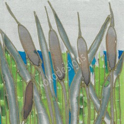 Bulrushes greetings card