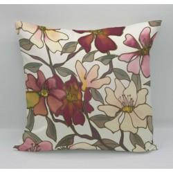 Butterflies cotton print cushion