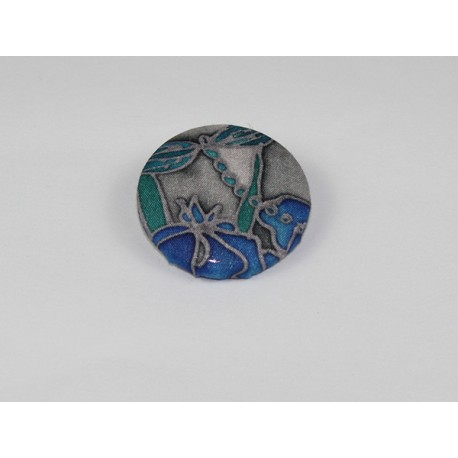 Dragonfly Bamboo Print Button