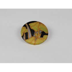 Iris Bamboo Print Button