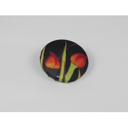 Tulips Bamboo Print Button