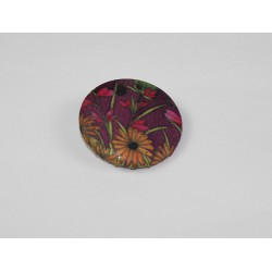 Autumn Garden Bamboo Print Button