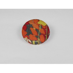 Hedgerow Bamboo Print Button