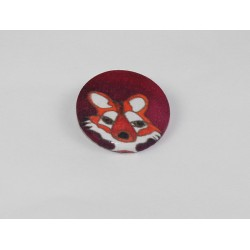 Fox Bamboo Print Button