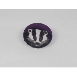 Badger Bamboo Print Button