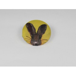 Hare Bamboo Print Button