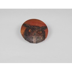 Owl Bamboo Print Button