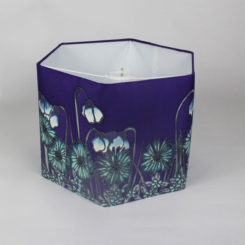 Purple Hexagonal Ceiling Shade