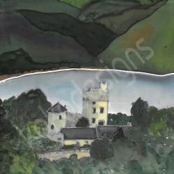 Glenveagh castle bamboo print