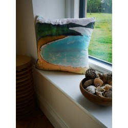 Ards velvet print cushion