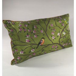 Into the garden silk cushion